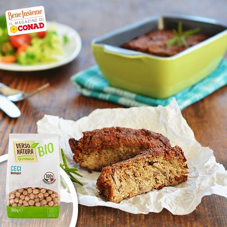 I ceci sono l'ingrediente più votato di questo mese di ottobre: proviamoli in questo gustoso sformato vegano di semi di girasole e funghi! Clicca sulla foto per la ricetta di #Conad Bene Insieme