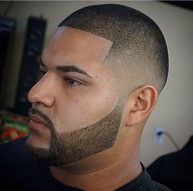 Very Clean Fade, With Full Beard.