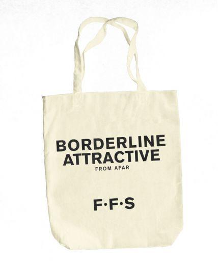F.F.S (Borderline Attractive) Natural Tote Bag