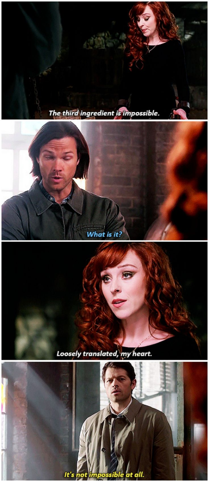 ''It's not impossible at all.'' Hahaha!! Cas!! / 10.23 : Brother's Keeper