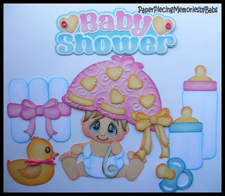 Baby Shower created by PAPER PIECING MEMORIES BY BABS, pattern by Cuddly Cute Designs