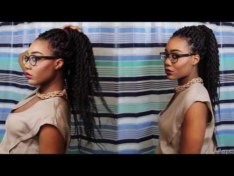 box braids styles (for Braided Extensions) - box braids styles - styling box braids