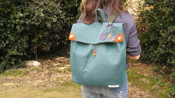 The Bicycle Backpack / Green oversize by MariasHappyThoughts