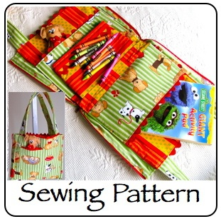 Kid's Busy Day Tote, these would be great for Church or long car rides!Crafts Ideas, Travel Bags, Sewing Pattern, Kids Size, Totes Sewing, Download Kids, Kids Business, Products, Sewing Accessories