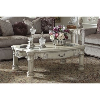 AICO Monte Carlo II Cocktail Table in Silver Pearl Finish