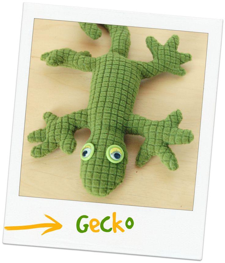 gecko stoffreste diy n hen reptilien reptil stofftier. Black Bedroom Furniture Sets. Home Design Ideas