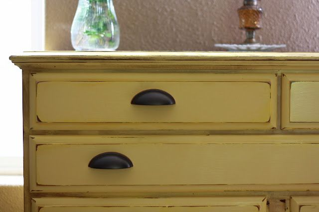 The Barefoot Seamstress: Lil' Yellow Dresser Makeover