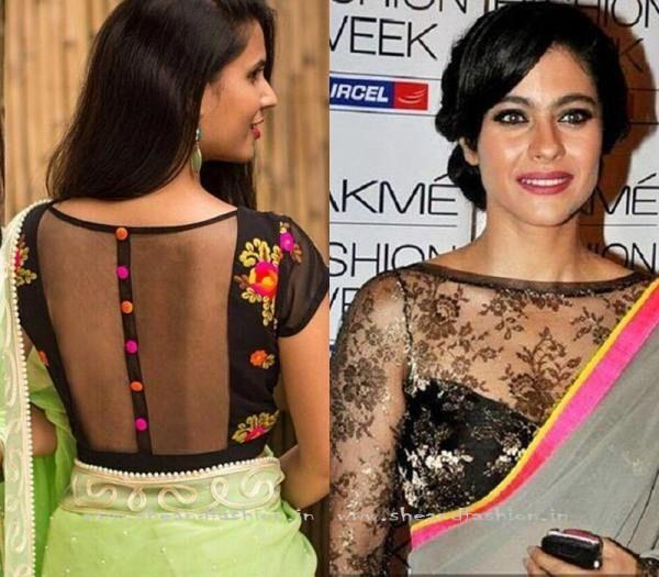 Net Saree Blouse Jacket Design