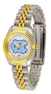 North Carolina Tar Heels UNC NCAA Womens 23Kt Gold Watch by SunTime. $134.95. Officially Licensed North Carolina Tarheels Women's Two-Tone Executive Watch. 2-Tone Stainless Steel Band. Women. 23kt Gold-Plated Bezel. Links Make Watch Adjustable. The ultimate fans statement our Ladies Executive timepiece offers women a classic business-appropriate look. Features a 23kt gold-plated bezel stainless steel case and date function. Secures to your wrist with a two-tone s...