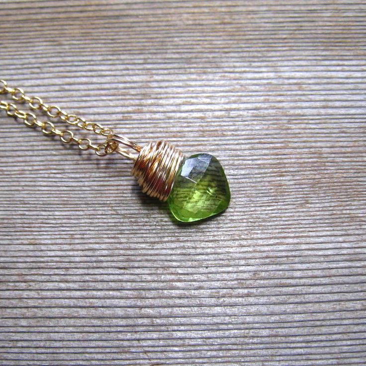 Gold Peridot Necklace, Dainty Layering Necklace, August Birthstone Jewelry, Apple Green, Natural Stone, Peridot Pendant by MoonlightDesigns2 on Etsy https://www.etsy.com/listing/244354468/gold-peridot-necklace-dainty-layering