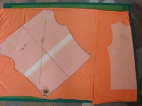 PoldaPop Designs: Free Sewing Tutorial: Draft a deep cowl neck top