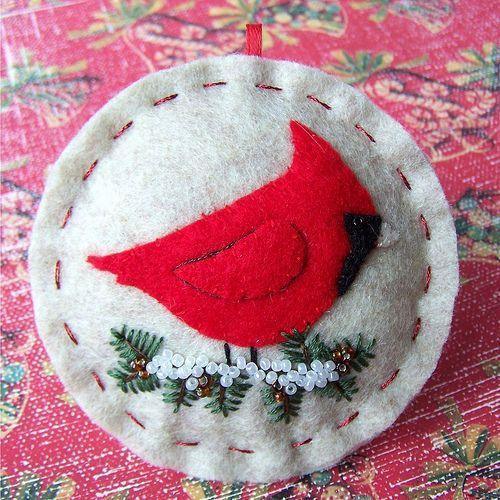 Holiday Cardinal Ornament | Handmade felt Christmas ornament… | Flickr #feltanimalspatternstemplates