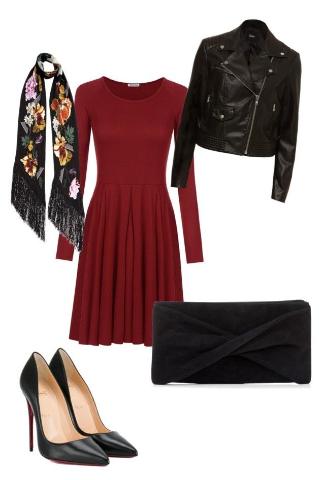"""Untitled #15"" by wilma-bih on Polyvore featuring Christian Louboutin, Reiss and Rockins"