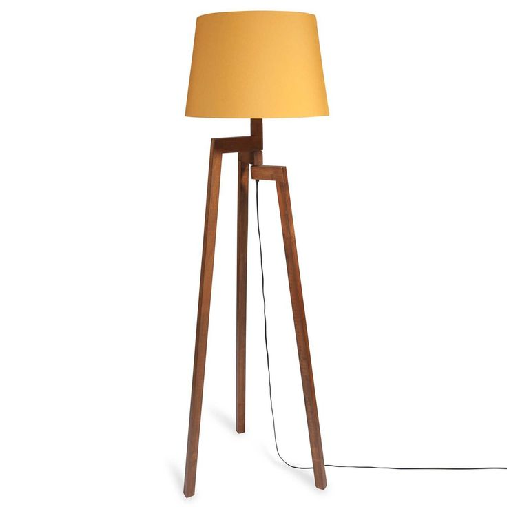 Inspirational Stehlampe mit Dreifu aus Holz MOUTARDE Maisons du Monde
