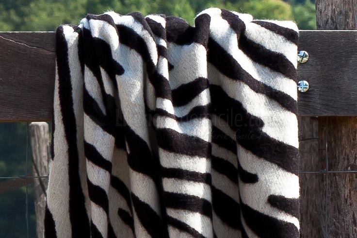 plaid zèbre 100% laine Mérinos TANZANIE par TOISON D'OR - Literie à domicile