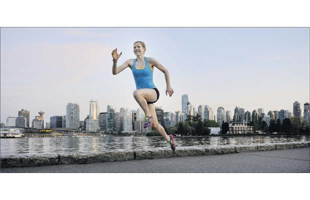 Young runner Kim Doerksen has a lighthearted approach to going the distance. Vancouver Marathon Winner.