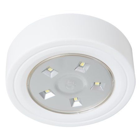 Lavish Home 5 LED Portable Puck and Ceiling Light with Remote Control