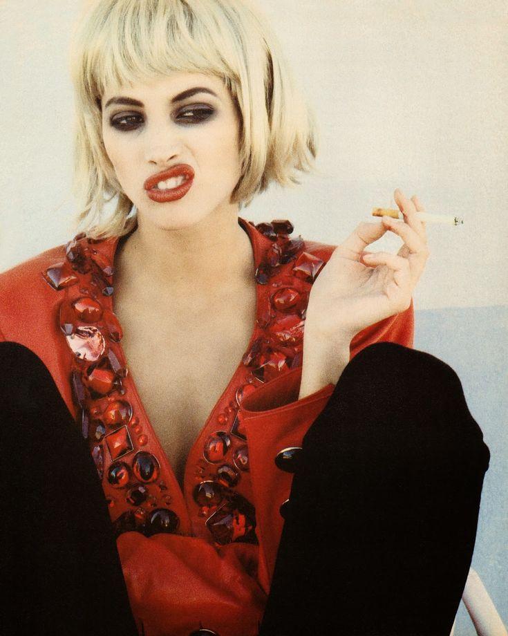 ☆ Christy Turlington   Photography by Ellen von Unwerth   For Vogue Magazine Italy   March 1990