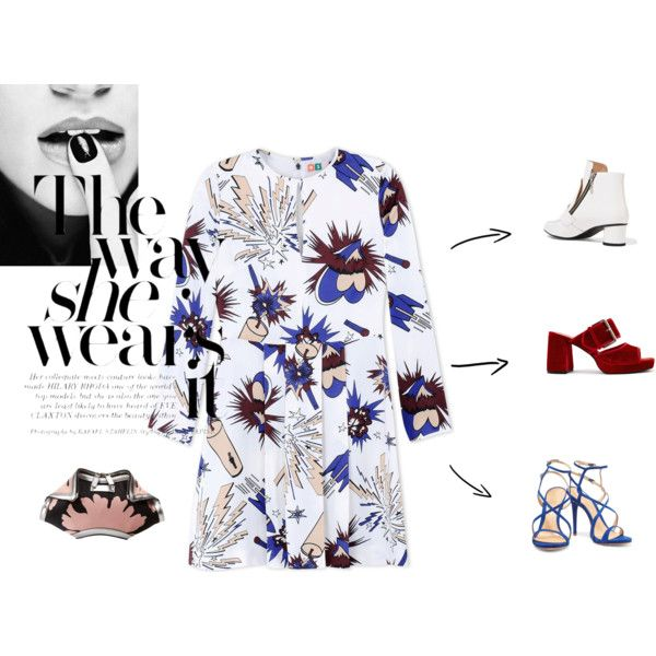 The Way She Wears by alcalams on Polyvore featuring moda, MSGM, Opening Ceremony, Schutz, Finery London and Alexander McQueen