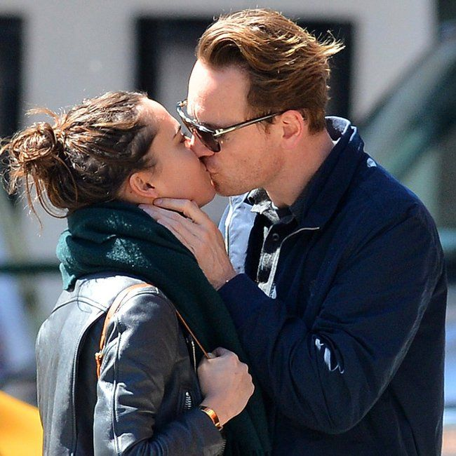 Pin for Later: Michael Fassbender Showers His Girlfriend With Sexy PDA
