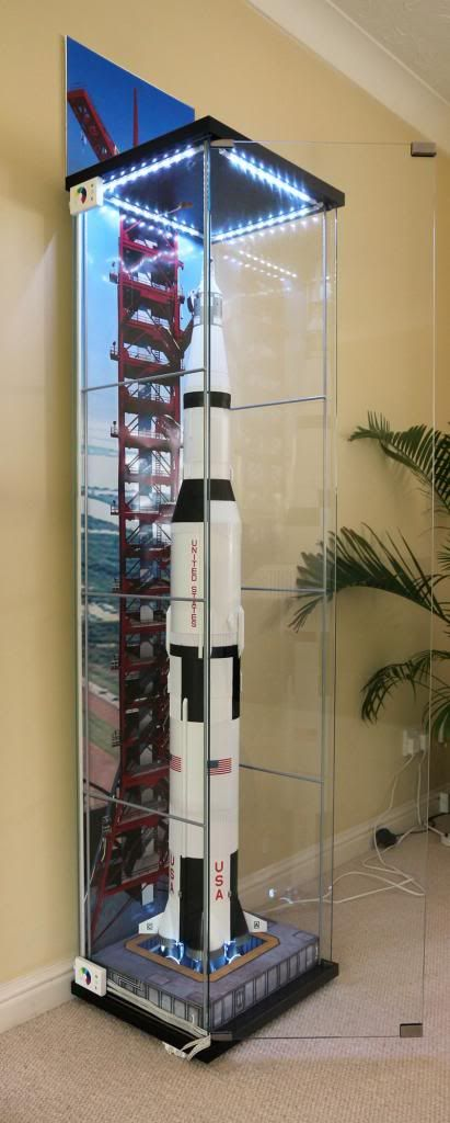 Dragon Models' 1:72 Saturn V in IKEA display case