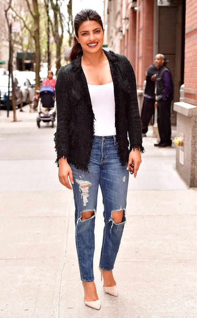 Priyanka Chopra from The Big Picture: Today's Hot Photos  The Quantico star looks casual and cool during a spring day in Manhattan.