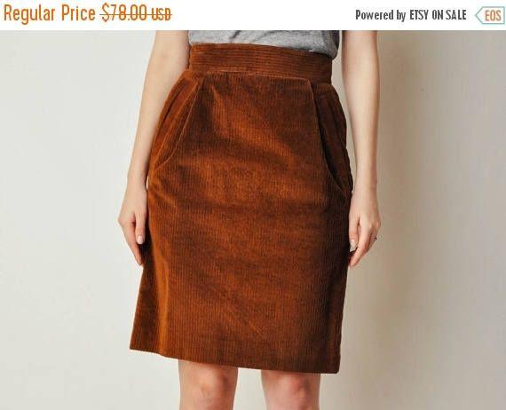 Claude Montana Corduroy Skirt
