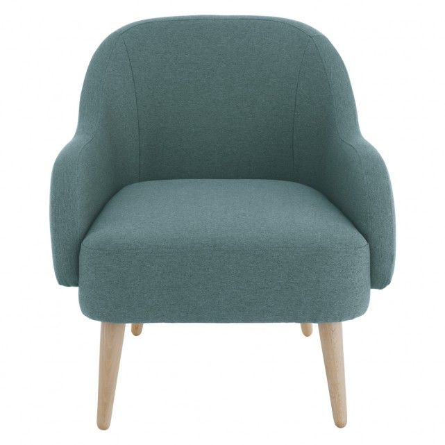 MOMO Teal blue fabric armchair