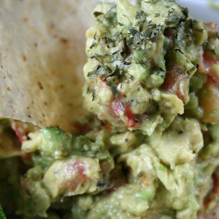 Fresh and yummy blender guacamole made in under 5 minutes. It doesn't get much easier than this.