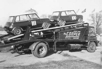 Cooper Car Company transporter
