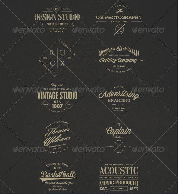 Винтажные логотипы – Vintage Badges and Logos Vol 3 7395534