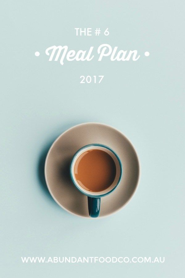 Take the stress out of meal planning by using Abundant Food Co's weekly meal plan #6.