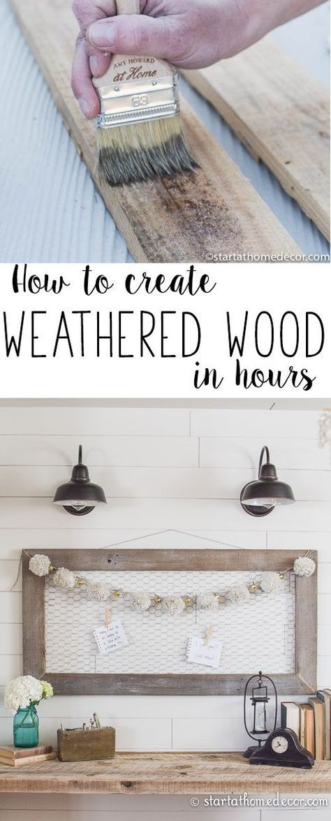 How to Create Weathered Wood   Start at Home Decor