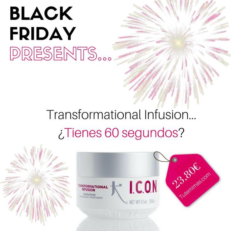 PRECIO ESPECIAL #BLACKFRIDAY: #ICON #Transformational Infusion Tratamiento Hidratante. En tan sólo 60 segundos:  Enriquece el cabello desde su interior.  Aporta una hidratación extraordinaria.  Proporciona cuerpo y brillo.  Con Acai-berrry, su ingrediente estrella ✨ ENVÍOS GRATIS EN 24 HORAS haciendo clic aquí