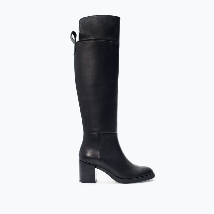 HIGH HEEL LEATHER BOOT-Shoes-Woman-SHOES & BAGS | ZARA United States