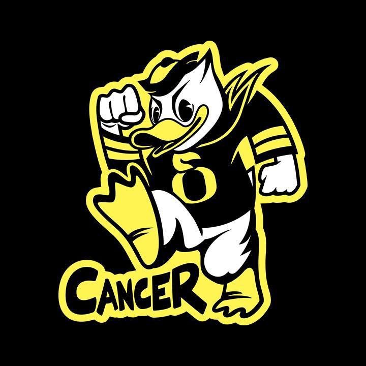 Ducky stomps out cancer!