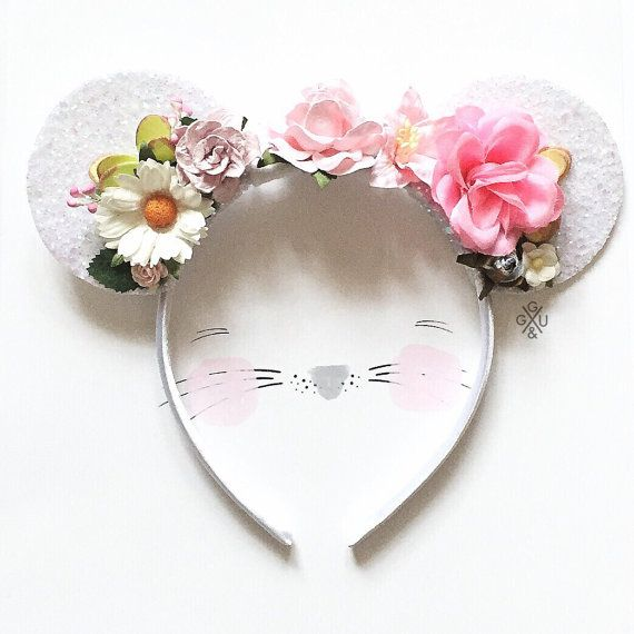 Mickey Mouse Inspired Ears Headband  Disney by giddyupandgrow