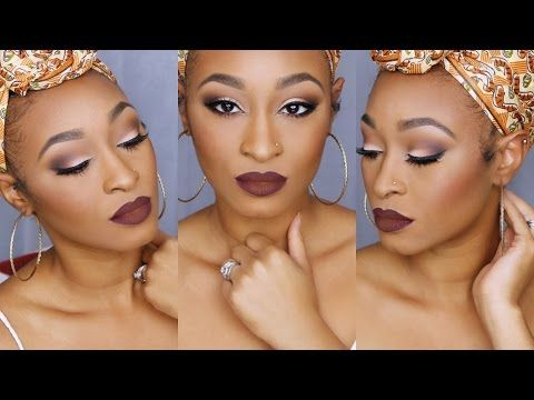 Neutral Makeup & Bold Lips Using Morphe 35N Palette | iAmPrincess - YouTube