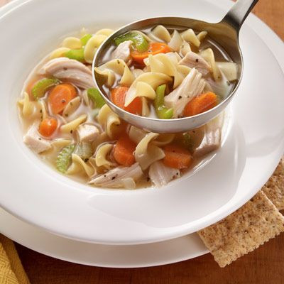 Homemade turkey soup.  Easy