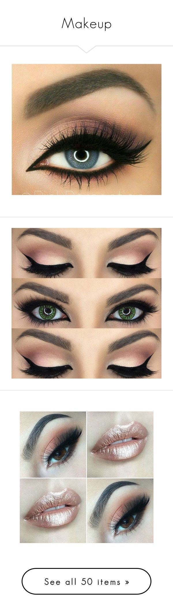 """Makeup"" by wattpad-lover-z ❤ liked on Polyvore featuring beauty products, makeup, eye makeup, eyes, beauty, accessories, lip makeup, lipstick, eyeshadow and eye's"