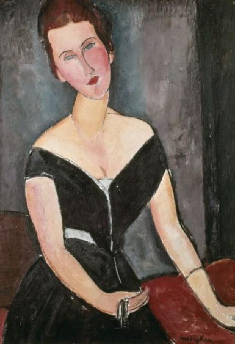 Madame G. van MUYDEN, 1917 -- MODIGLIANI, Amedeo : 1884-1920 : Italian | Photo Credit: [ The Art Archive / São Paulo Art Museum Brazil / Gianni Dagli Orti ] MONDADORI PORTFOLIO/Picture Desk Images