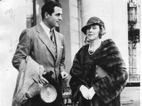 Madeleine Astor and her third husband, Feirmonte, who beat her and spent her large fortune.
