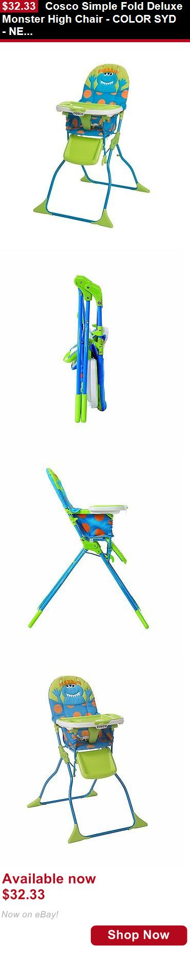 Baby High Chairs: Cosco Simple Fold Deluxe Monster High Chair - Color Syd - New And Freeshipping BUY IT NOW ONLY: $32.33