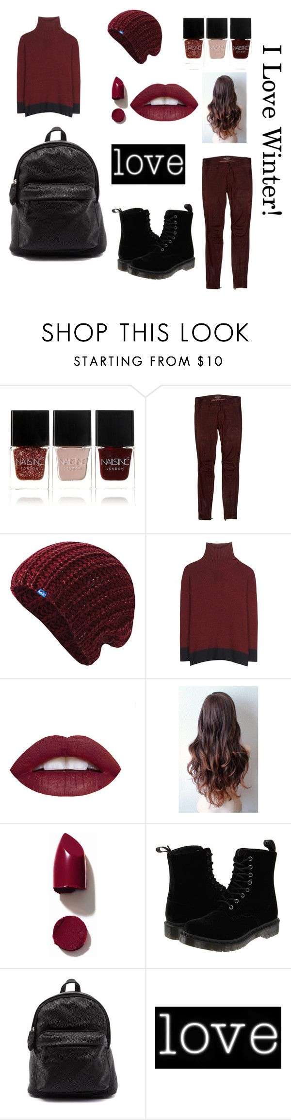 """Winter"" by kiajeje ❤ liked on Polyvore featuring Nails Inc., Vince, Keds, Marni, NARS Cosmetics, Dr. Martens, Seletti, red and winterstyle"