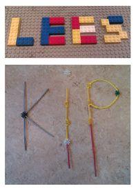 Letters bouwen met materialen zoals lego, blokken of knex. Super leuk in groep 3.