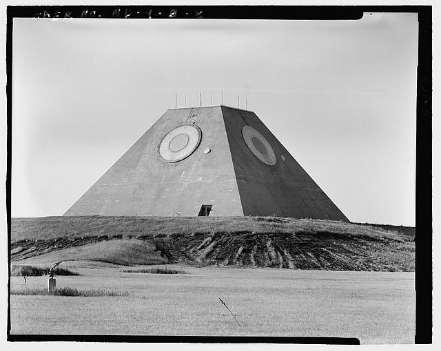 An American pyramid : abandoned US anti-ballistic missile system, Stanley R. Mickelsen Safeguard complex in Nekoma, North Dakota, USA