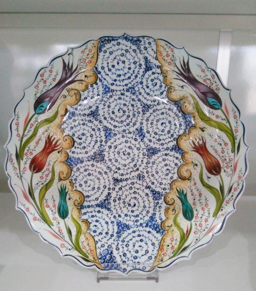 """TURKISH CERAMIC PLATE, 40 cm (15.7""""), TULIP"""