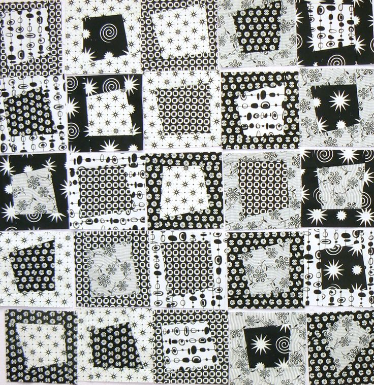 The unbeatable combination of black and white, gone modern with this funky design.