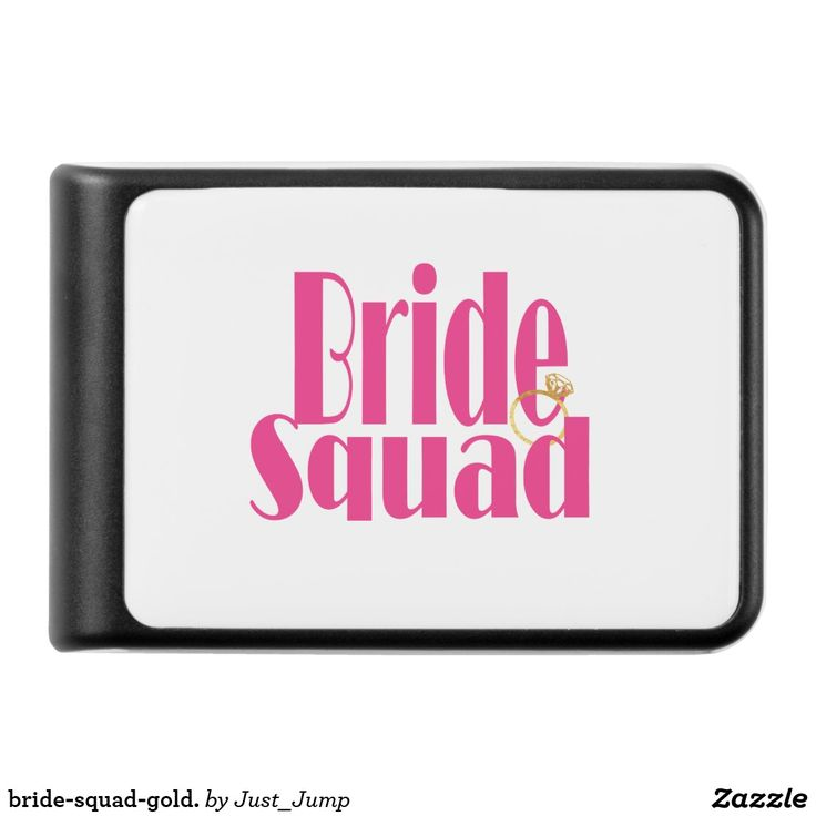 bride-squad-gold. power bank techno bride powerbank bridal shower charge bachelorette