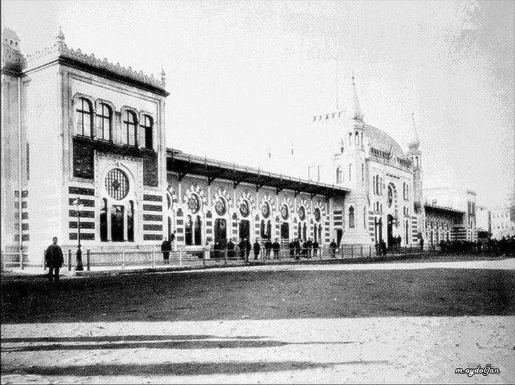 Sirkeci Tren istasyonu açılışı sonrasında. Istanbul Sirkeci Railway station.